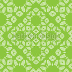 Decorative Leaves Seamless Vector Pattern