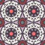 Círculos de Mandala grandes e pequenos Design de padrão vetorial sem costura