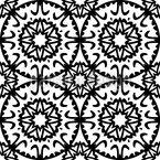 Sich berührende Kreise Nahtloses Vektor Muster
