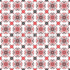 Traditional Romanian Mandalas Seamless Vector Pattern Design