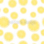 Gesunde Zitronenscheiben Rapportiertes Design