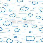 Hand Drawn Clouds Seamless Vector Pattern Design
