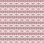 Traditional Romanian Bordure Seamless Vector Pattern