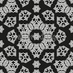 Curlicue Flores Fantasia Design de padrão vetorial sem costura