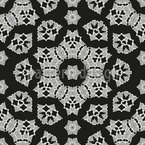 Curlicue Fantasy Flowers Seamless Vector Pattern Design