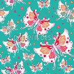 Schmetterlings-Hochzeit Vektor Ornament