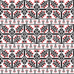 Romanian Folkart Seamless Vector Pattern