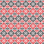 Eastern Squares Seamless Vector Pattern Design