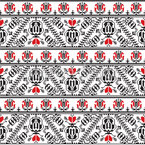 Traditional Romanian Bordure Repeating Pattern