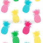 Süße Ananas Nahtloses Vektormuster