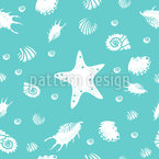 Shell Party Seamless Vector Pattern Design