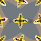 Crossed Ovals Seamless Vector Pattern Design