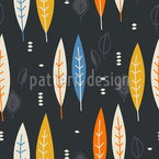 Vintage Feathers Vector Pattern