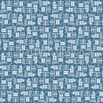 Japanese Typography Repeating Pattern
