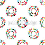 Dotted Rings Repeat Pattern