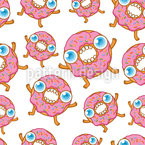 Hungry Cartoon Donuts  Design Pattern