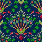Gemüse-Mosaik Nahtloses Vektormuster