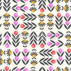 Fantasia Floral Design de padrão vetorial sem costura