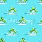 Einsame Insel Nahtloses Vektor Muster