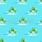Lonely Island Seamless Vector Pattern Design