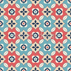 Arranged retro flowers Seamless Pattern