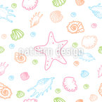 Treasures Of The Ocean Repeat Pattern