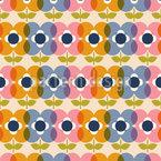 6ties Цветы Бесшовный дизайн векторных узоров