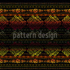 Ethnic Stripes Seamless Vector Pattern Design