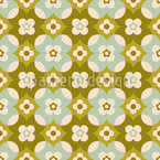 Earth Flowers Repeating Pattern