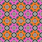 Выделяющийся ретро цветы Бесшовный дизайн векторных узоров