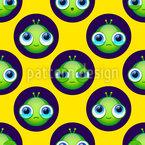 Aliens Haben Auch Gefühle Nahtloses Vektormuster