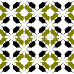 Sunday Flowers Seamless Vector Pattern Design