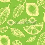 Citrus Fruits  Seamless Vector Pattern