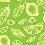 Zitrus Früchte Nahtloses Vektor Muster