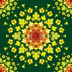 Eine Florale Explosion Nahtloses Vektormuster