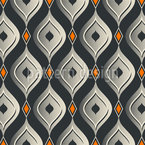 Vintage Refined Curtains Repeating Pattern