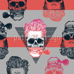 Grungy Skulls Seamless Vector Pattern Design