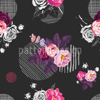 Wild Rose Seamless Vector Pattern Design