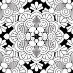 Blumen-Mandala Nahtloses Vektormuster