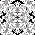 Floral Looking Mandala Seamless Vector Pattern Design