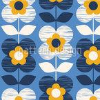 Hand-drawn retro blossoms  Vector Design