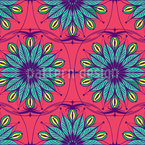 Stylized ornate flowers Seamless Vector Pattern Design