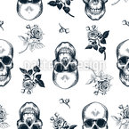 Skulls And Roses Pattern Design