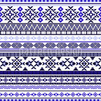 Ethnic Bordure Seamless Vector Pattern Design