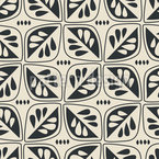 Retro-Leaves Pattern Design