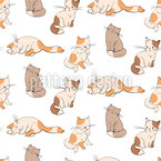 Kittens Seamless Vector Pattern Design