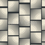Ornate square shapes Seamless Vector Pattern Design