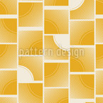 Sonnig reich verzierte Quadrate Nahtloses Vektormuster