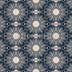 Filigrane verzierte Blüten Vektor Muster