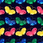 Night Butterflies Seamless Vector Pattern Design